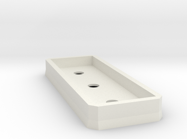Low profile support platform (n-scale) in White Natural Versatile Plastic