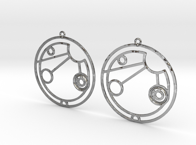 Allison - Earrings - Series 1 in Polished Silver
