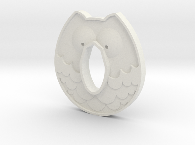 Cold Steel Wakazashi Tsuba - Owl in White Natural Versatile Plastic
