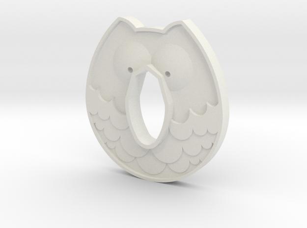 Cold Steel Wakazashi Tsuba - Owl in White Natural Versatile Plastic