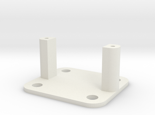 SG90 Servo Mount - Type 2 in White Strong & Flexible