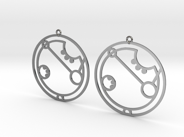 April - Earrings - Series 1 in Premium Silver