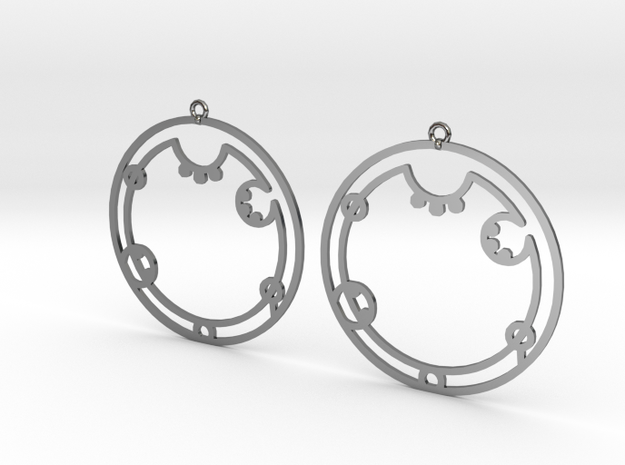 Audrey - Earrings - Series 1 in Fine Detail Polished Silver