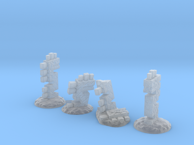 Serpent Columns (24mm high) in Frosted Ultra Detail