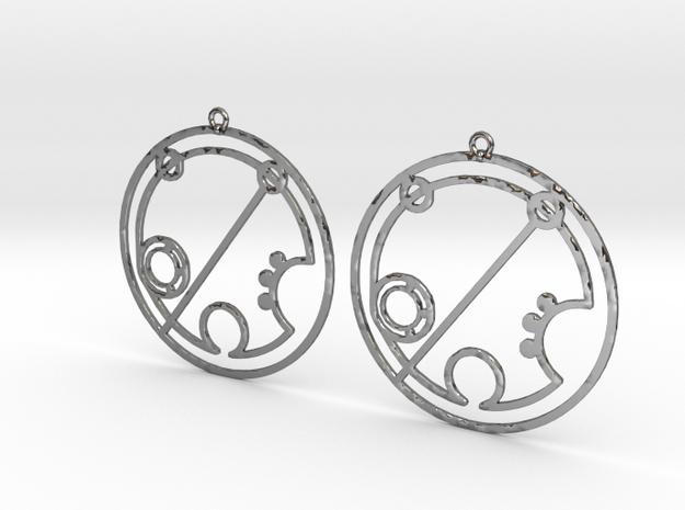 Brielle - Earrings - Series 1 in Fine Detail Polished Silver