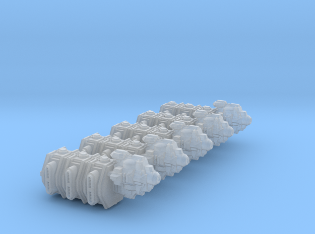 Transportship Beta (5 models) in Smooth Fine Detail Plastic