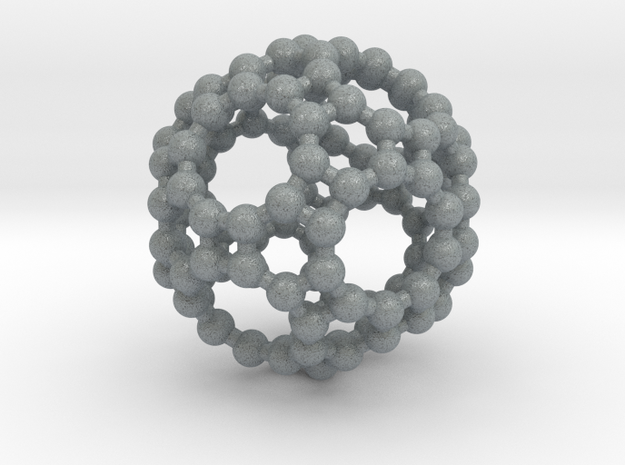 Truncated Icosidodecahedron in Polished Metallic Plastic