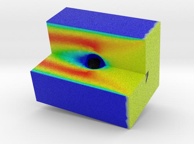 Air Flow across a sphere in Full Color Sandstone