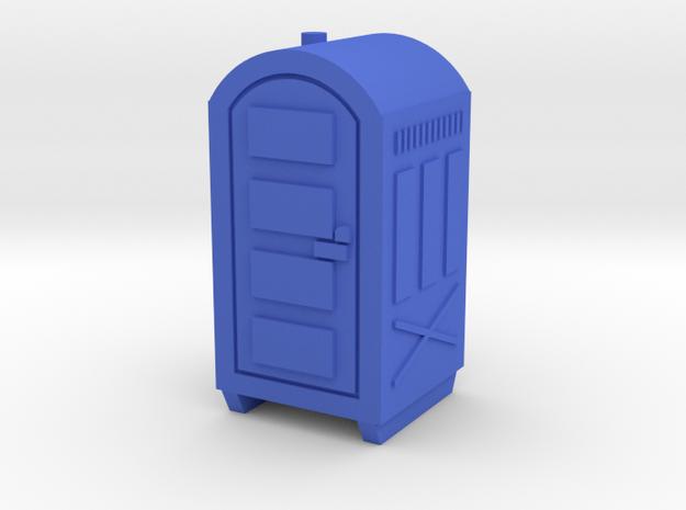 N Scale Portable Toilet in Blue Processed Versatile Plastic
