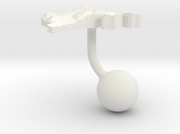 Montenegro Terrain Cufflink - Ball in White Natural Versatile Plastic