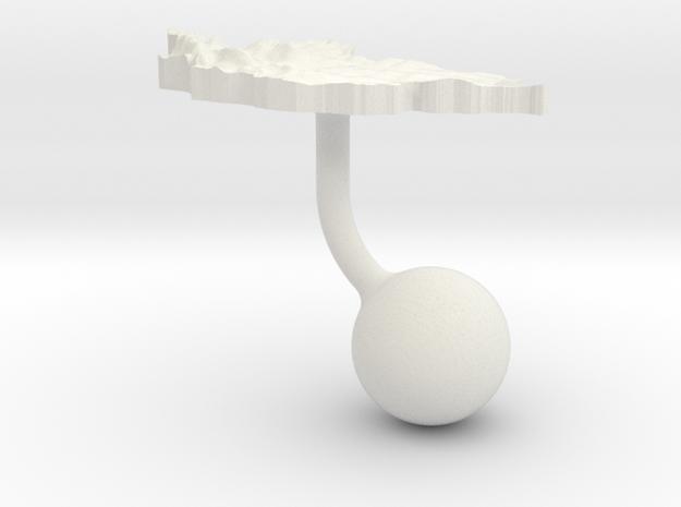 Mongolia Terrain Cufflink - Ball in White Natural Versatile Plastic
