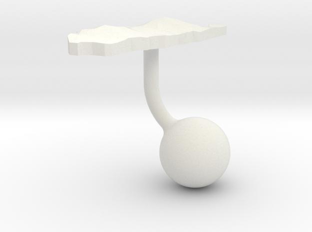 Palau Terrain Cufflink - Ball in White Natural Versatile Plastic