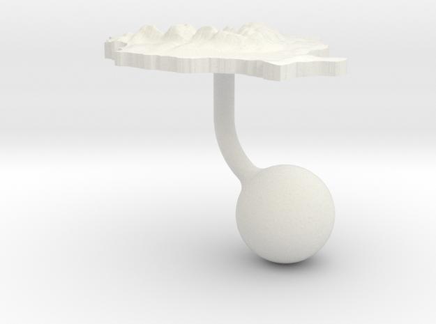 Romania Terrain Cufflink - Ball in White Natural Versatile Plastic
