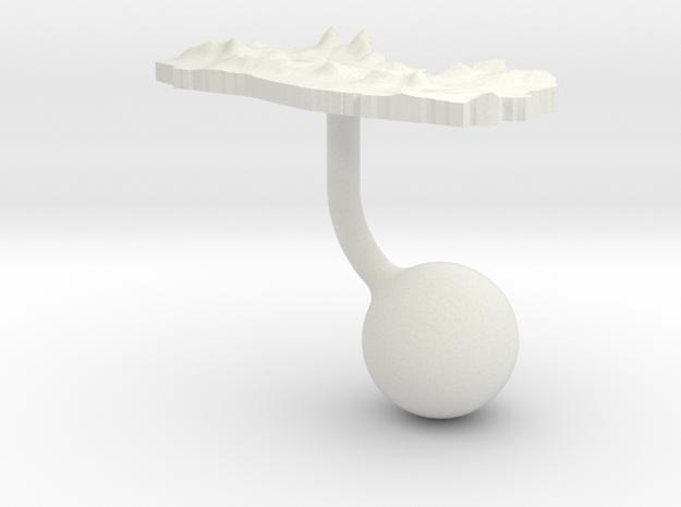 El Salvador Terrain Cufflink - Ball 3d printed