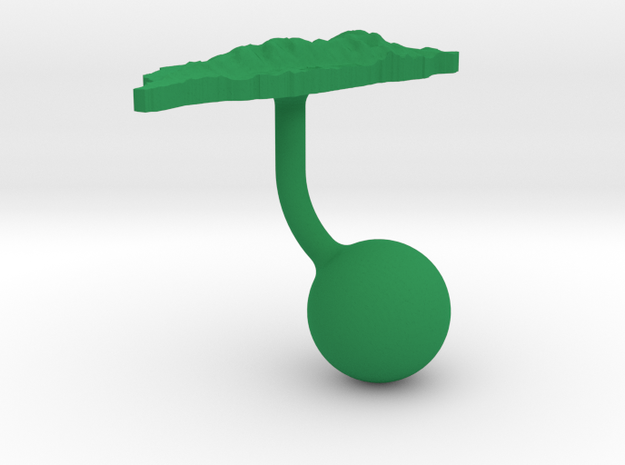 Taiwan Terrain Cufflink - Ball 3d printed