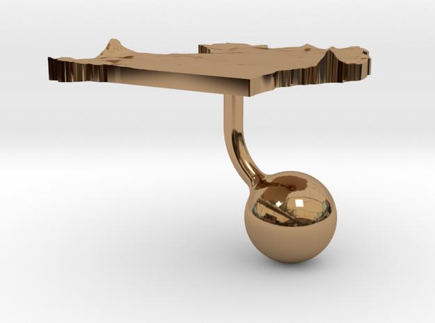 Uganda Terrain Cufflink - Ball 3d printed