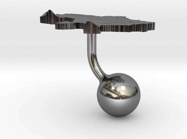 Ukraine Terrain Cufflink - Ball 3d printed