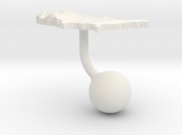 United States Terrain Cufflink - Ball in White Natural Versatile Plastic