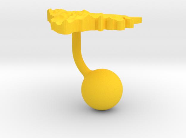 Bosnia and Herzegovina Terrain Cufflink - Ball 3d printed