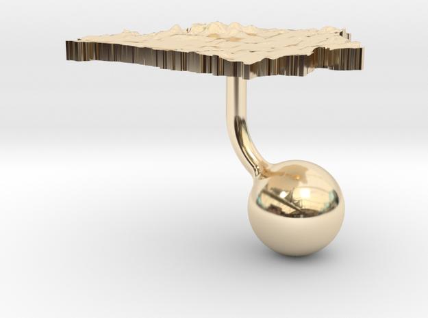 Belarus Terrain Cufflink - Ball 3d printed