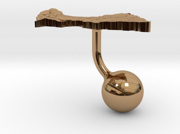 Central African Republic Terrain Cufflink - Ball 3d printed