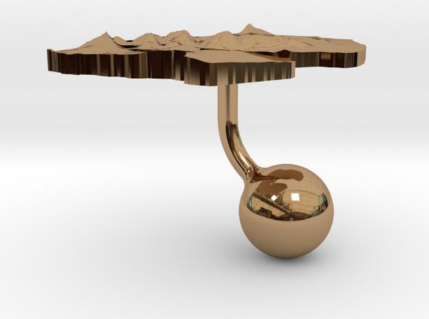 Djibouti Terrain Cufflink - Ball 3d printed