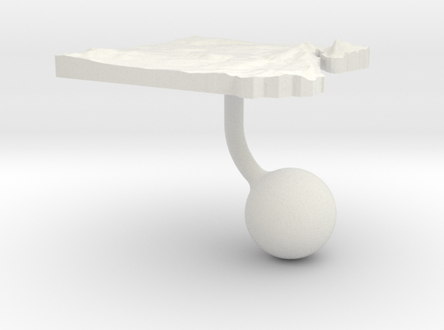Egypt Terrain Cufflink - Ball in White Natural Versatile Plastic