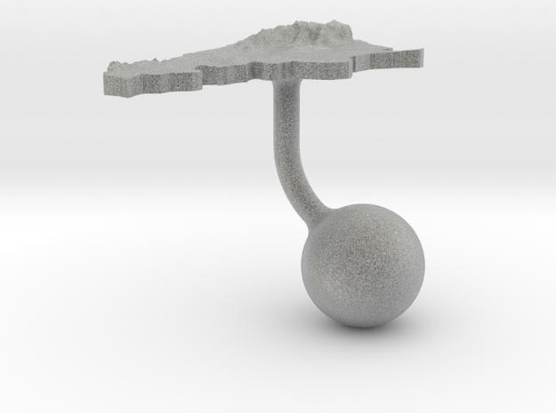 Argentina Terrain Cufflink - Ball 3d printed