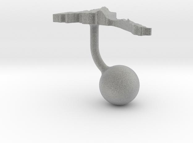 Eritrea Terrain Cufflink - Ball 3d printed