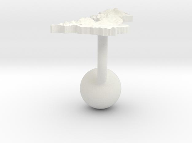 United Kingdom Terrain Cufflink - Ball in White Natural Versatile Plastic