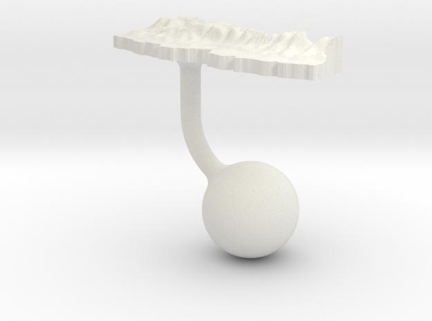 Nepal Terrain Cufflink - Ball in White Natural Versatile Plastic