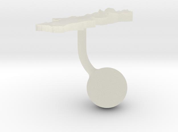 Portugal Terrain Cufflink - Ball in Transparent Acrylic