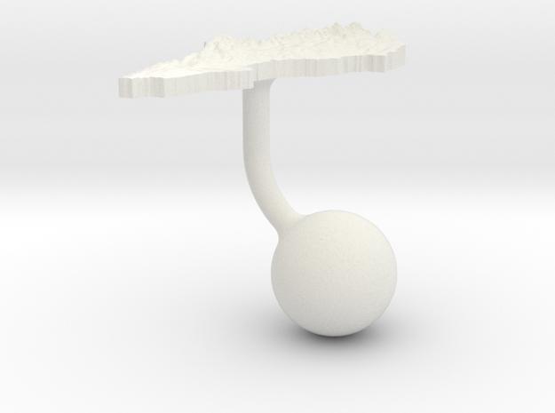 Sweden Terrain Cufflink - Ball in White Natural Versatile Plastic