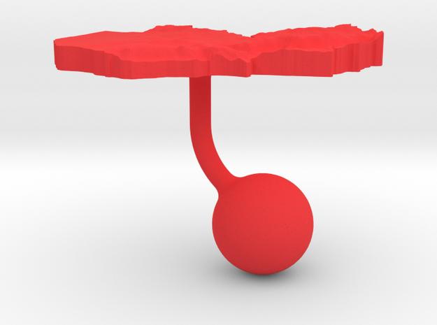 Zambia Terrain Cufflink - Ball 3d printed