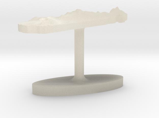 Madagascar Terrain Cufflink - Flat 3d printed