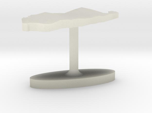 Palau Terrain Cufflink - Flat in Transparent Acrylic