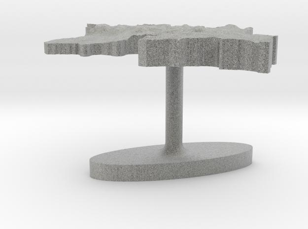 Tajikistan Terrain Cufflink - Flat 3d printed