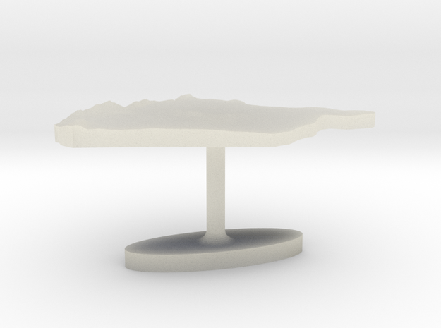 Syria Terrain Cufflink - Flat in Transparent Acrylic