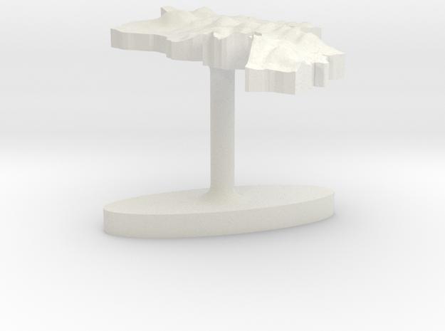 Armenia Terrain Cufflink - Flat 3d printed