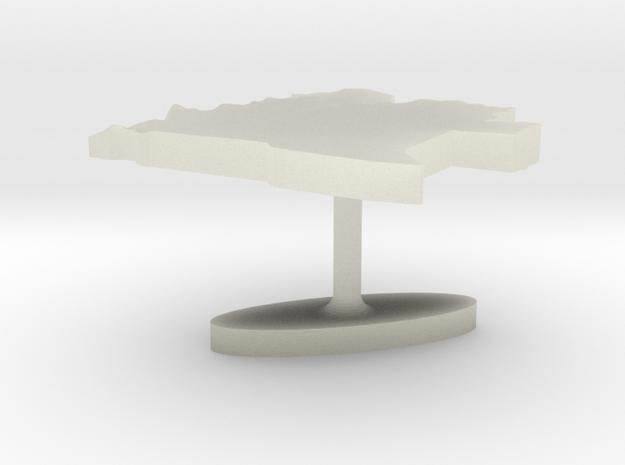 Angola Terrain Cufflink - Flat in Transparent Acrylic