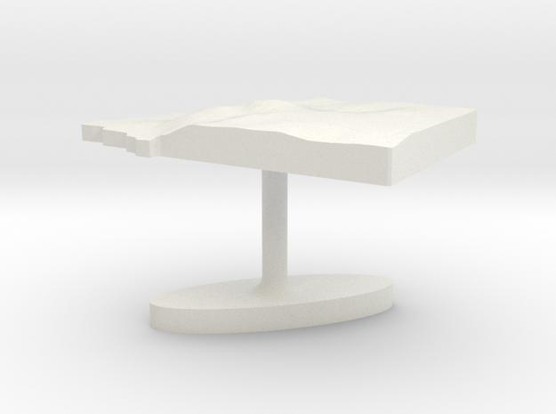 Equatorial Guinea Terrain Cufflink - Flat in White Natural Versatile Plastic