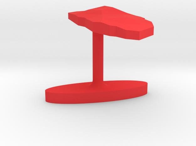 Aruba Terrain Cufflink - Flat 3d printed