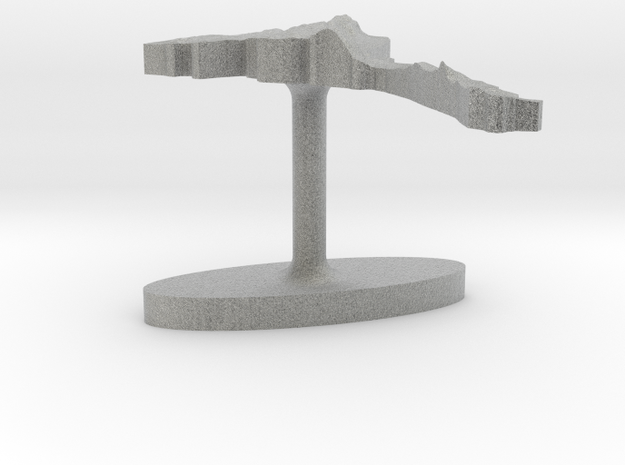 Eritrea Terrain Cufflink - Flat 3d printed