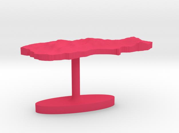 New Zealand South Island Terrain Cufflink - Flat 3d printed