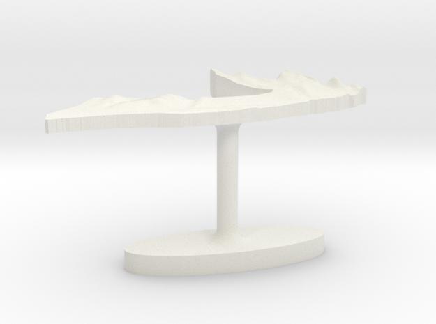 Somalia Terrain Cufflink - Flat 3d printed