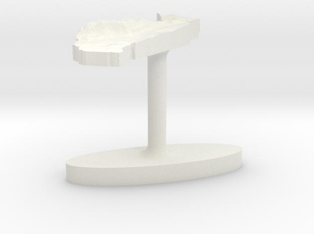 Togo Terrain Cufflink - Flat in White Natural Versatile Plastic
