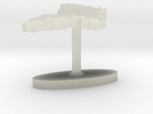 Moldova Terrain Cufflink - Flat 3d printed