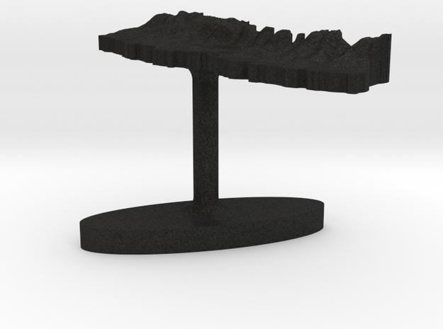 Nepal Terrain Cufflink - Plate 3d printed
