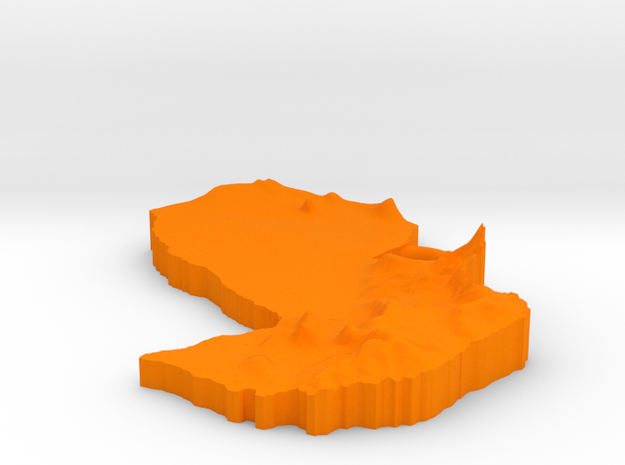 Paraguay Earring 3d printed