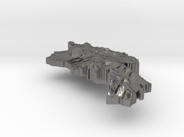 Armenia Terrain Silver Pendant 3d printed